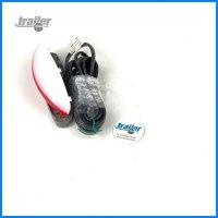 Positionsleuchte LED, rot-weiss, Unterteil, grau