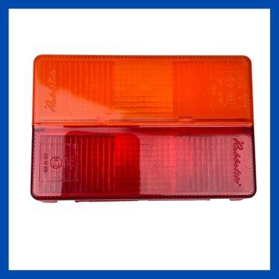 Ersatzglas 128x85x25 rot/ gelb