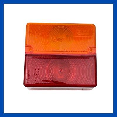 Glas 2-Kammerleuchte 104/95/46mm gelb/rot