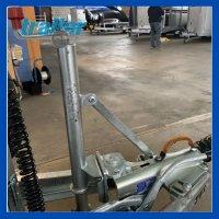 Stützradkonsole mit Schwerlast Stützrad + Strebe